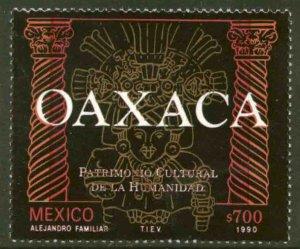 MEXICO 1657, OAXACA CULTURAL HERITAGE. F-VF MINT, NH. VF.