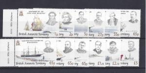 British Antarctic Territory, 387-98,Explorers/Ships,*MNH*