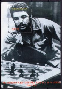 Turkmenistan 1997 YT#Bl.7 Ernesto Che Guevara Play CHESS S/S Perforated Used