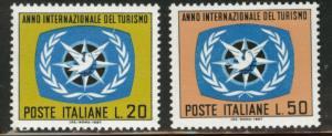 Italy Scott 972-3 MNH** 1967 ITY stamp set