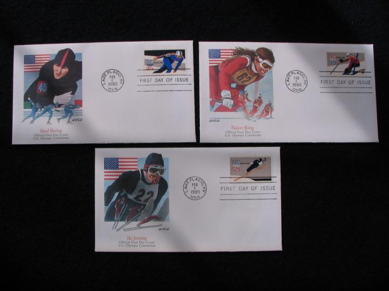 US – 1980 – Set of 3X Olympic Covers