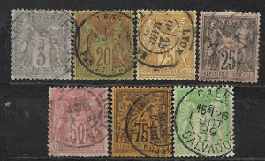 COLLECTION LOT OF 7 FRANCE 1879+ CV + $ 50