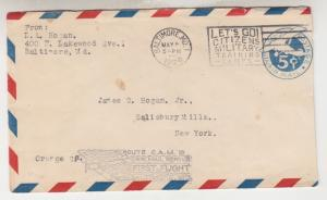 UNITED STATES, 1929 Baltimore, MD, CAM 19 First Flight cover.