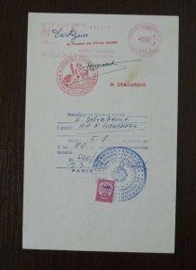 Yugoslavia 1968 Consular Revenue Stamps Used on Document B15