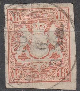 Bavaria #22 F-VF Used CV $175.00  (A13051)