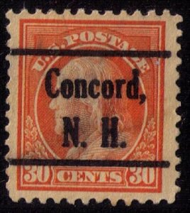 US Sc 439 USED Precancel Concord N.H. VF