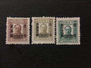 China stamp set, Genuine, for north east overprint, unused,  List 1726