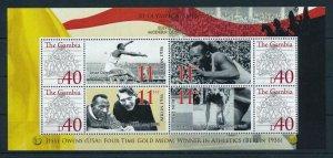 [105218] Gambia 2008 Olympic Games Berlin Jesse Owens Souvenir Sheet MNH