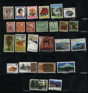 New Zealand  25 different used  PD