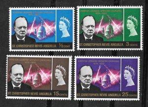 St. Kitts-Nevis  # 167-170 Sir Winston Churchill   (4)  Mint NH
