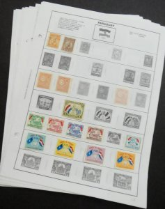 EDW1949SELL : PARAGUAY Mint & Used collection of 380 all different on album pgs