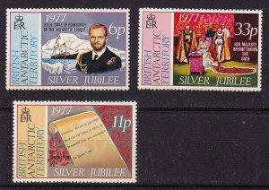 British Antarctic Territory MNH 68-70 Silver Jubilee QE II 1977