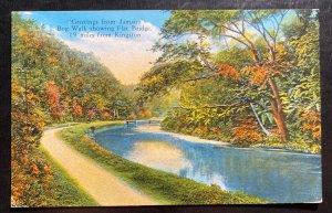 1934 Honduras Picture Postcard Cover To Usa Bog Walk Jamaica