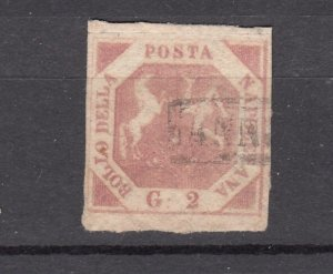 J27852 1858 italy two sicilies #3 used coat of arms