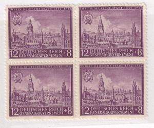 Germany Poland General Gov't Sc.# NB15 1942 Block WWII War MNH (552-4)