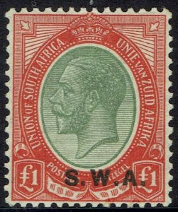SOUTH WEST AFRICA 1927 KGV 1 POUND