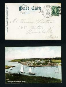 Picture Post Card with Rockland & Portland RPO to Haverhill, Mass. - 7-8-1907