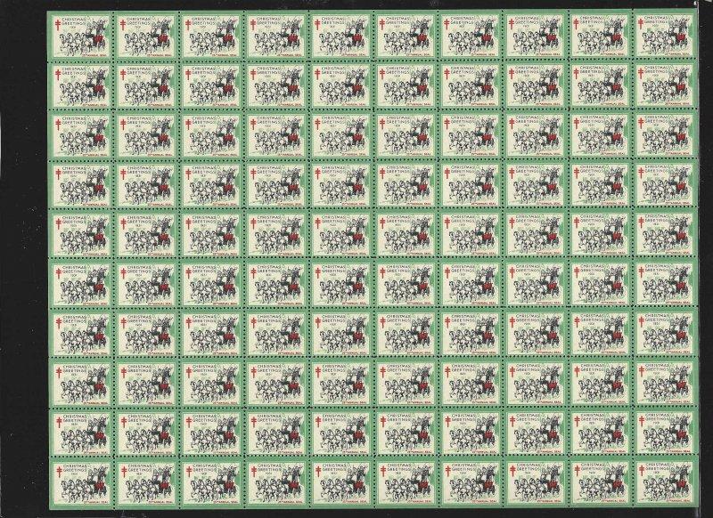 WX61 Mint,OG,NH... Pane of 100... SCV $300.00