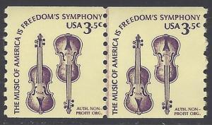 #1813 3.5c Weaver Violins JLP 1980 Mint NH