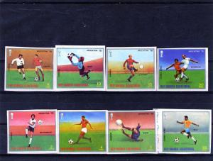 Equatorial Guinea World Cup Soccer Argentina Set Imperf.mnh