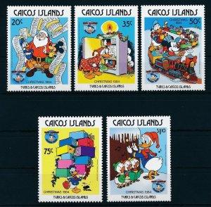 [22176] Caicos Islands 1984 Disney 50th Birthday Donald Duck MNH