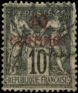 French Morocco Scott #3a Used  Type I