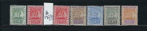 BRITISH GUIANA SCOTT #171A-177 (+172B) 1907-1910 CARAVELS WMK 3 -  MINT  HINGED