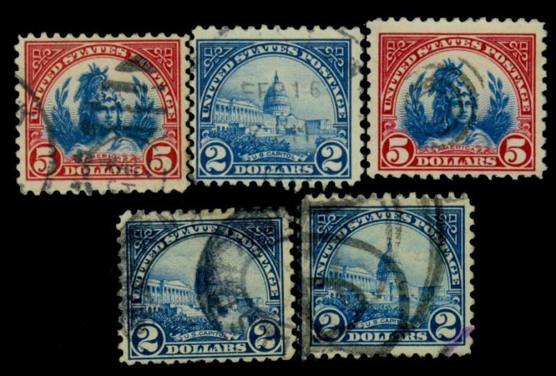 572 (3) 573 (2) Used F-VF Cat$36