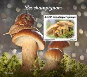TOGO - 2019 - Mushrooms - Perf Souv Sheet  - M N H