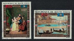 Upper Volta UNESCO 'Save Venice' Campaign 2v 1972 CTO SG#361-362