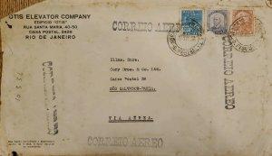 A) 1936, BRAZIL, AIRMAIL, FROM RIO OF JANEIRO TO SAO SALVADOR