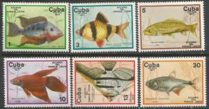CUBA 2126-31 MNH FISHES TONING Z6419-5