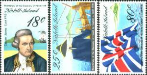 Norfolk Island 1978 SG200-202 Captain Cook Hawaii set MNH