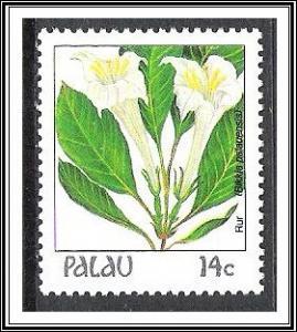 Palau #130 Indigenous Flowers MNH
