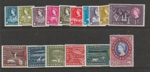 KENYA UGANDA & TANGANYIKA #120-35 MINT LIGHTLY HINGED COMPLETE