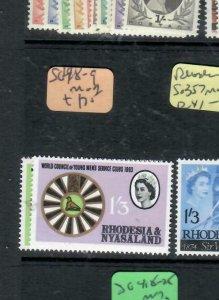 RHODESIA & NYASALAND (P1206B)  QEII SG 48-9   MOG