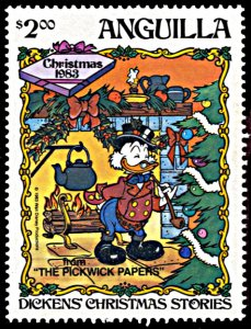 Anguilla 554, MNH, Disney Christmas 1983, Dicken's Pickwick Papers