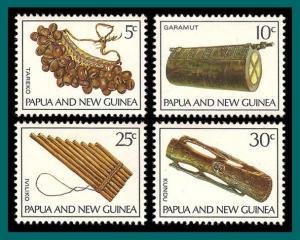 Papua New Guinea 1969 Musical Instruments, mint  293-296,SG165-SG168