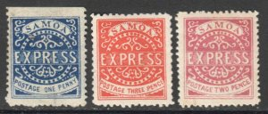 SAMOA FIRST ISSUES MINT COLLECTION LOT x3 #1 YOU IDENTIFY AND GRADE