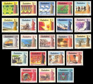 Zimbabwe 1985 Definitives Scott #493-514 Mint Never Hinged