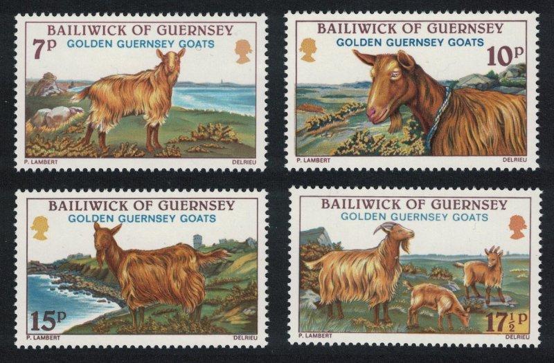Guernsey MNH 209-12 Golden Guernsey Goats