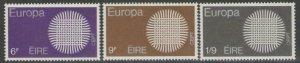 IRELAND SG276/8 1970 EUROPA MNH