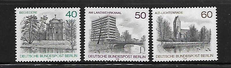 BERLIN, 9N422-9N424, MNH, CONFRENCE CENTER