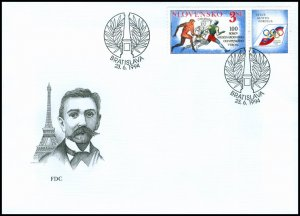 Slovakia 1994 FDC 33 The Olympic Movement