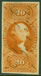 EDW1949SELL : USA Scott #R98a VF, Used with nice color & large margins. Cat $150