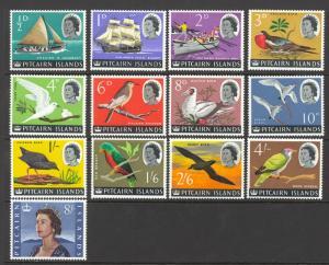 Pitcairn Islands Sc# 39-51 MNH 1964-1965 Pitcairn Longboat Queen Elizabeth