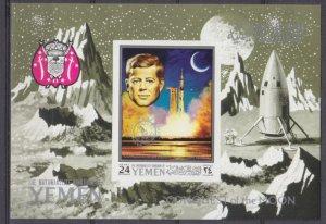 1969 Yemen Kingdom 960/B187b Overprint silver - Apollo 12 # B156b 12,00 €