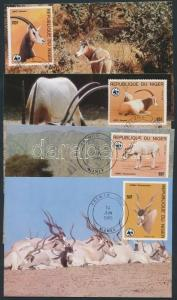 Cape Verde stamp WWF Addax set CM Cover 1985 Mi 941-944 WS202924