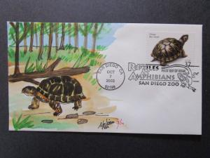 US - Melissa Fox Hand Painted FDC 3 of 10 / 2003 Box Turtle - Z7317