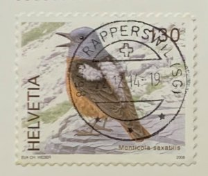 Switzerland 1307 Used Bird (SCV $1.50)